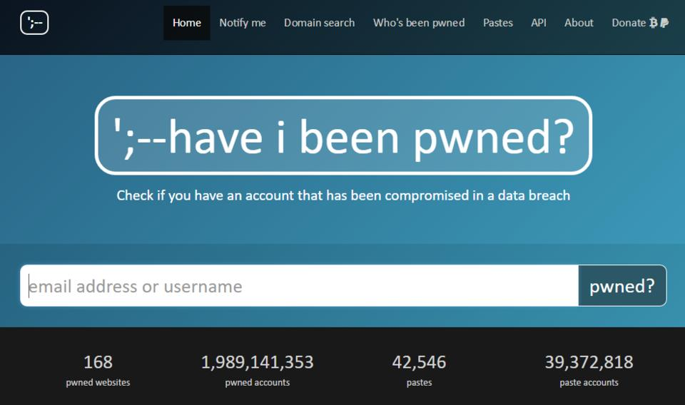 have I been pwned tool