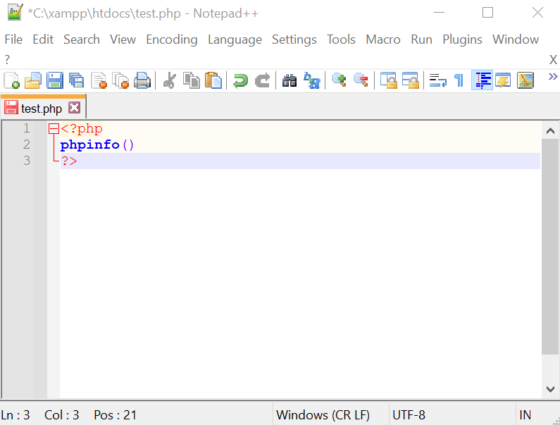 php tutorial voor beginners notepad