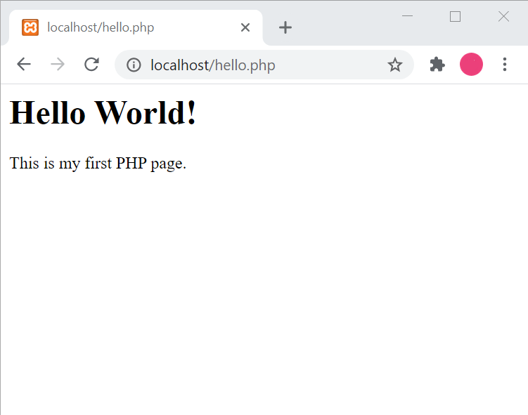 php tutorial voor beginners first php page