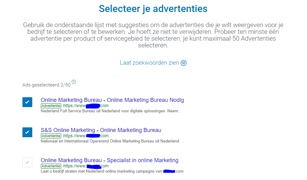 1 van de 50 advertenties