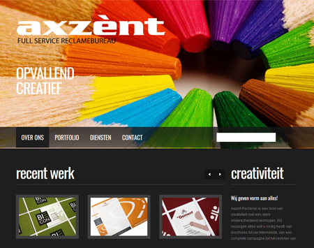 Website www.axzent.nl
