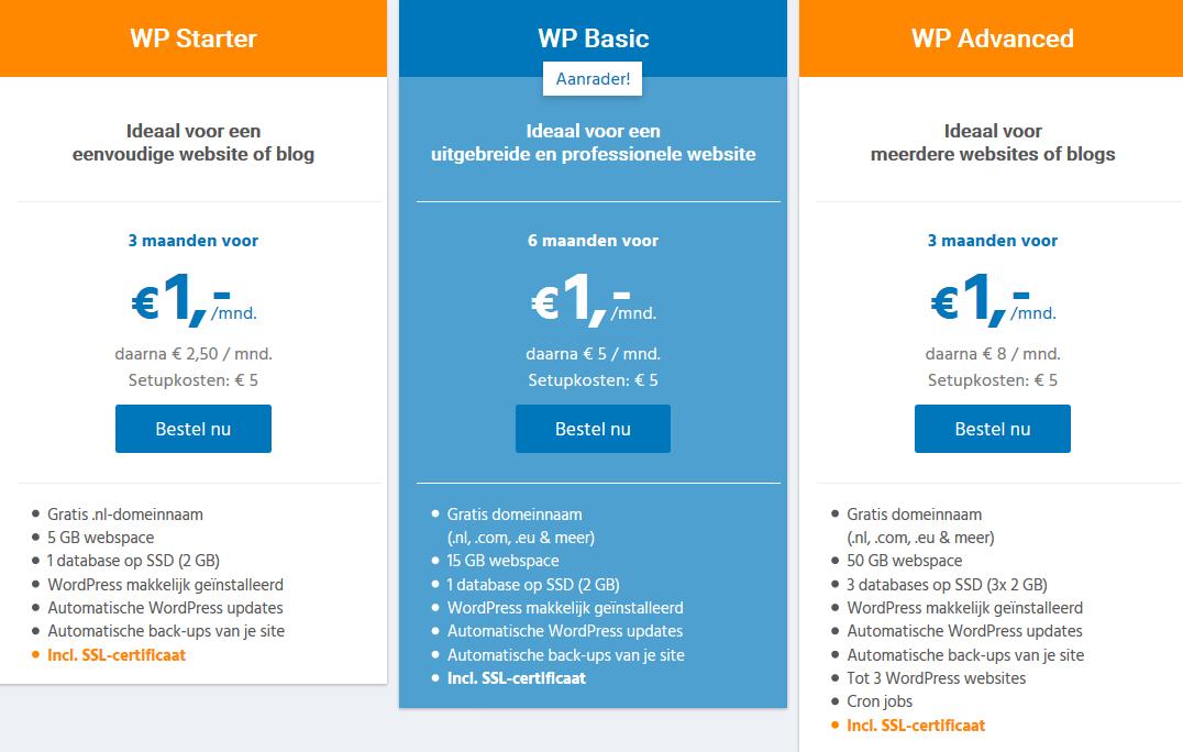 STRATO WordPress pakketten