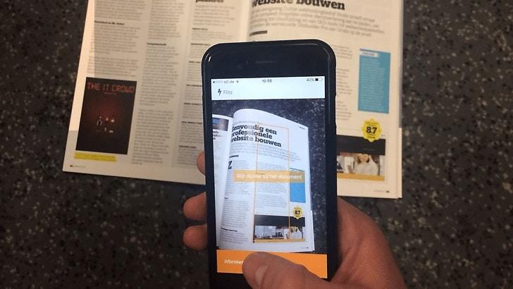 Nieuwe HiDrive functie: met je smartphone documenten scannen en in de cloud opslaan