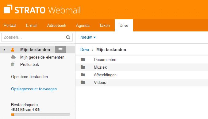 HiDrive account toevoegen aan Webmail