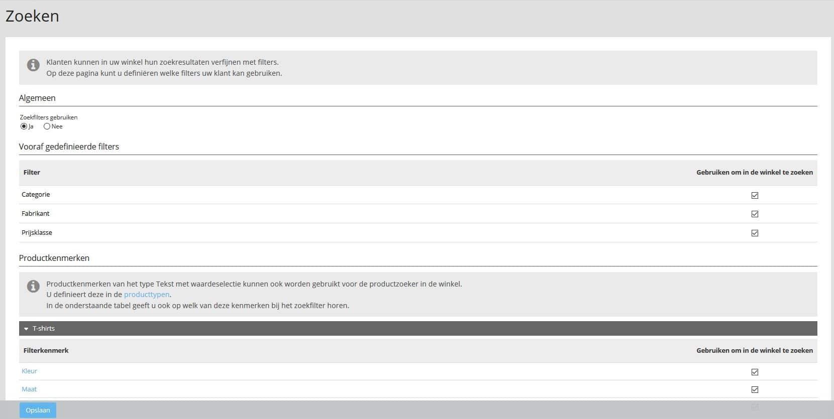 De uitgebreide zoekfunctie in de STRATO webshop activeren en configureren.