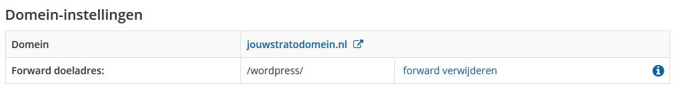 Instellingen van je domein bij STRATO