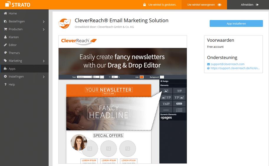 E-mailmarketing app CleverReach