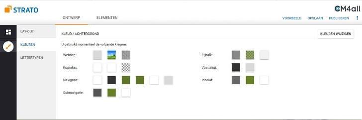 Het kleurenschema van je website