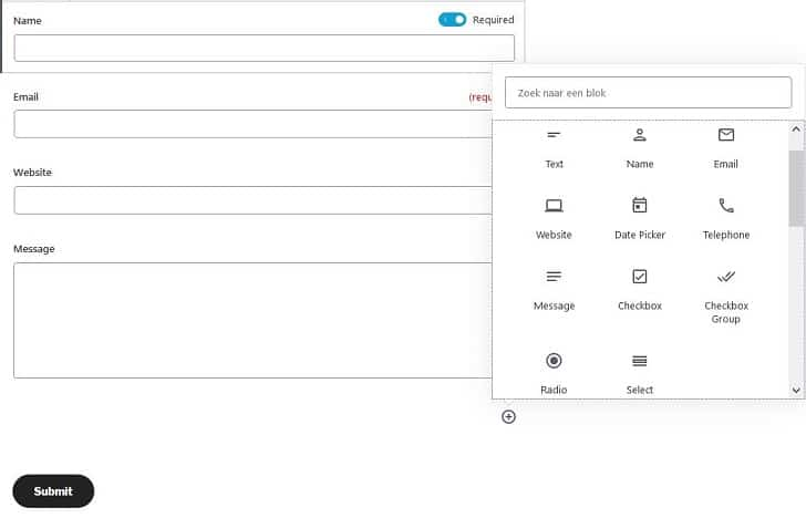 Jetpack: contactformulier zelf aanpassen