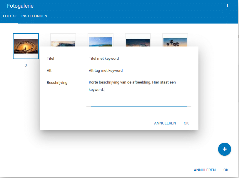 Alt-tekst toevoegen aan je afbeeldingen