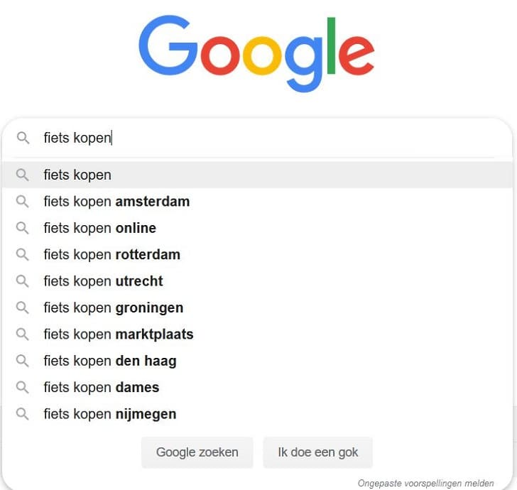 Vind je concurrenten via google