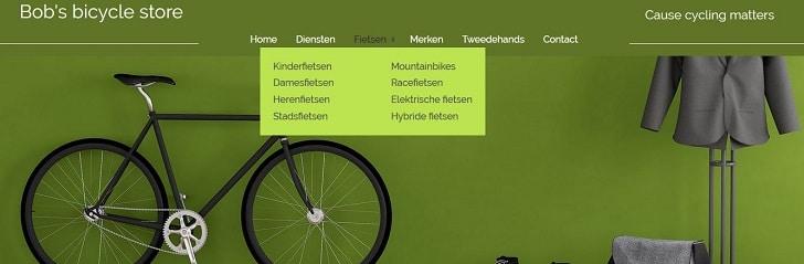 Gebruik aansprekende titels in het menu van je website
