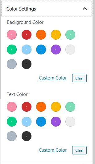 Blokken een kleur geven