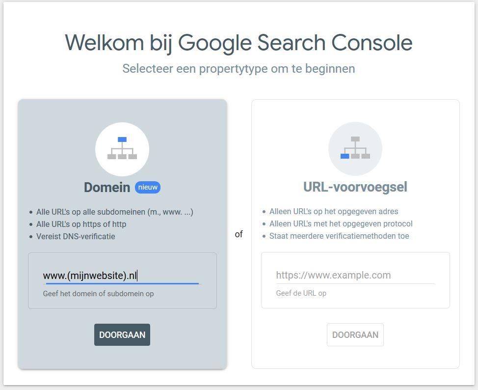property hinzufügen google & bing
