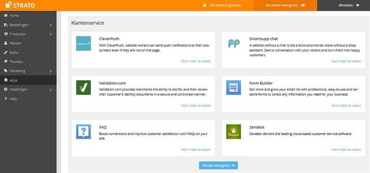 Webshop apps: klantenservice