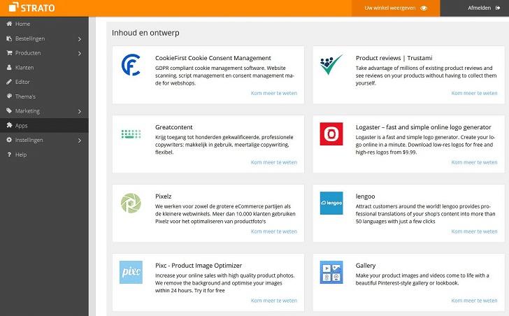 Webshop apps: inhoud en design