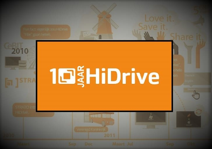 10 jaar HiDrive: een visuele tijdreis