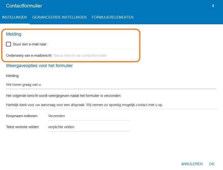 STRATO Sitebuilder: een contactformulier invoegen
