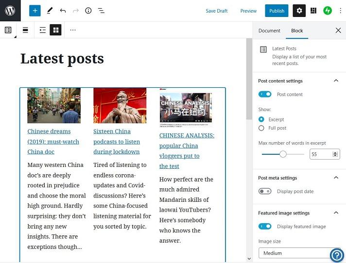 De nieuwste artikelen worden getoond met foto's