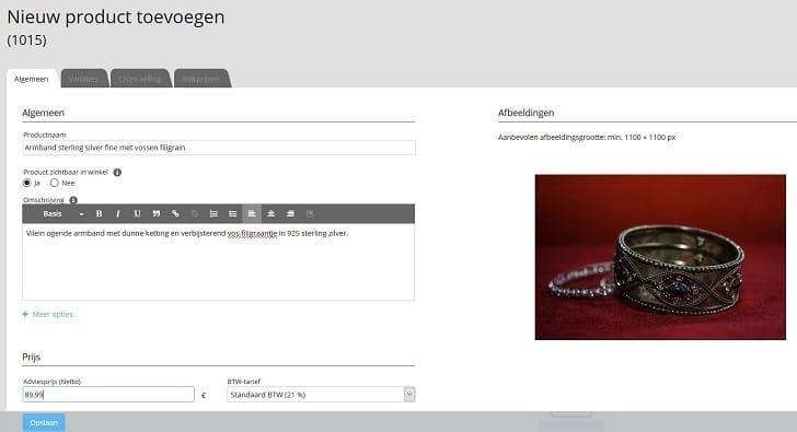 STRATO Webshop: een nieuw product toevoegen