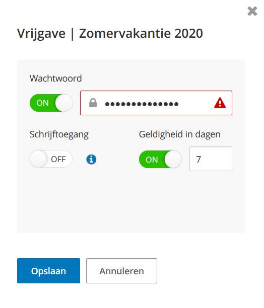 Hidrive wachtwoord voor een gedeelde map instellen