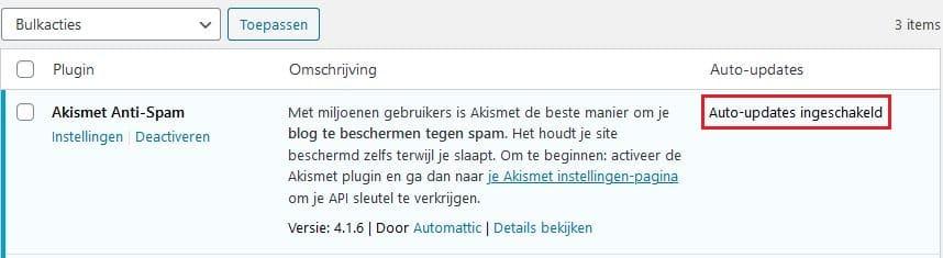 WordPress 5.5: plug-ins kunnen nu automatisch worden geactualiseerd dankzij de functie auto-updates.