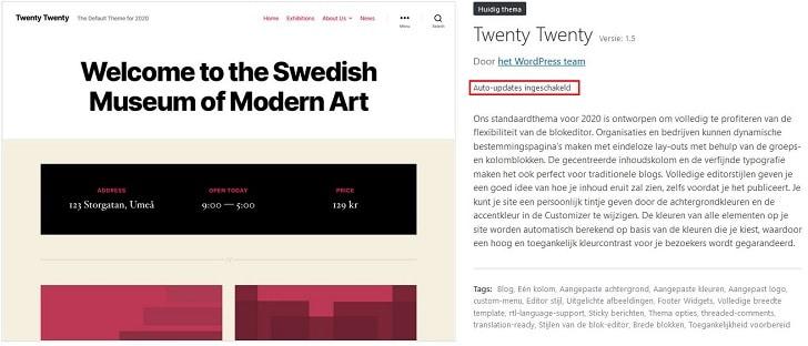 WordPress 5.5: je thema automatisch laten updaten dankzij auto-updates