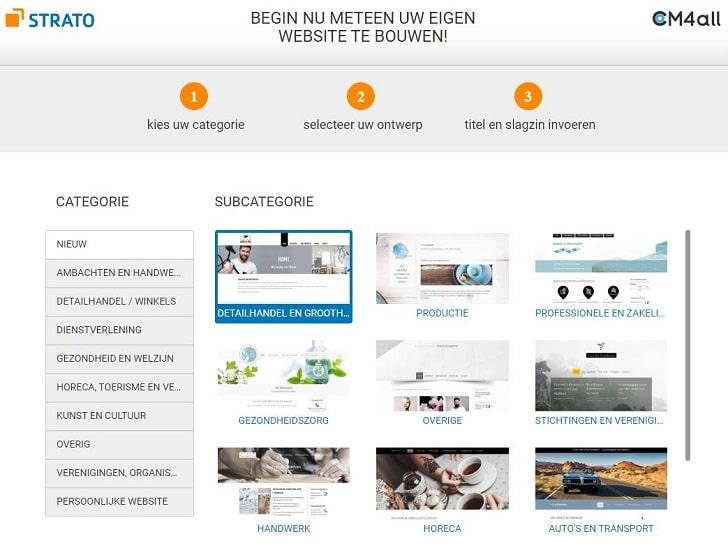STRATO Sitebuilder: kies een passend design