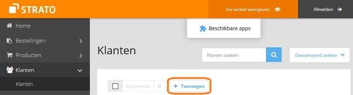 STRATO Webshop Now: zelf een bestelling voor een klant invoeren