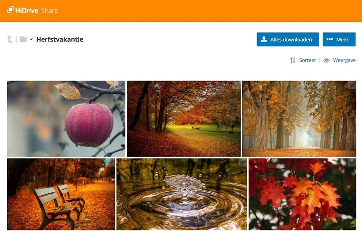 HiDrive fotogalerij - shared link