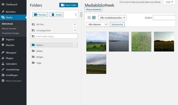 Filebird: organiseer je media-bestanden in zelf aangemaakte mappen
