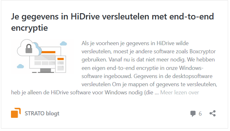 HiDrive: end-to-end-encryptie