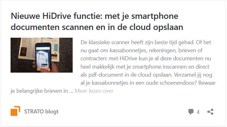 HiDrive: met je smartphone documenten scannen en in de cloud opslaan