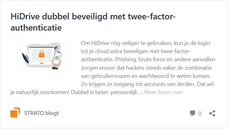 HiDrive: beveiligd met twee-factor-authenticatie