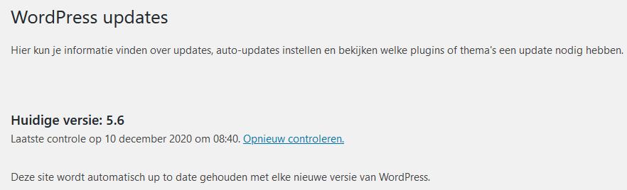 WordPress 5.6: automatische updates
