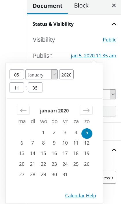 WordPress: een gepubliceerd artikel opnieuw publiceren door de publicatiedatum aan te passen