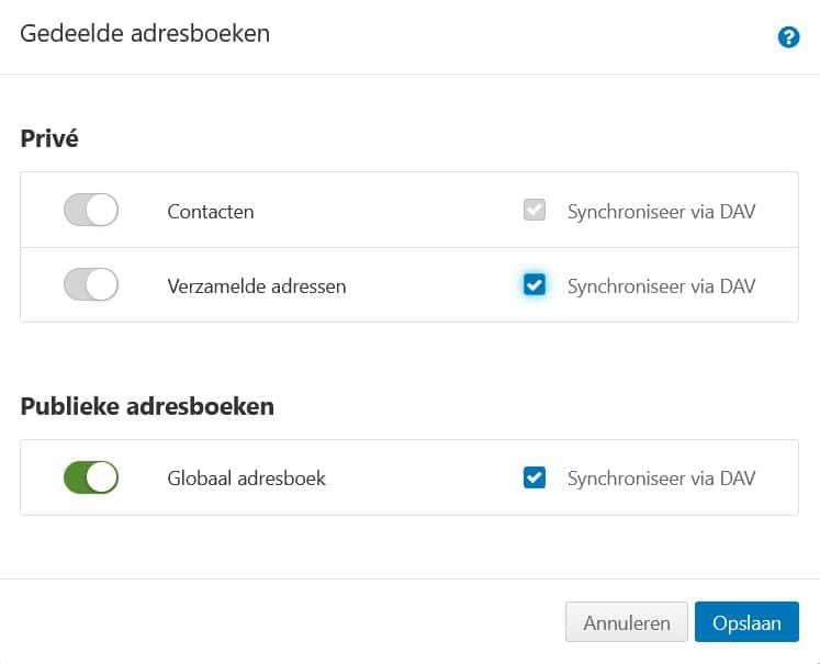 STRATO Webmail: adresboeken synchroniseren