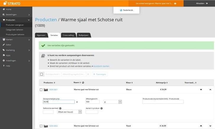 Webshop Now: oorspronkelijke prijs en adviesprijs