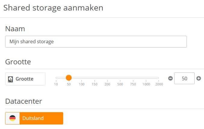 STRATO ServerCloud:  Shared storage wordt gedeeld door meerdere VM's