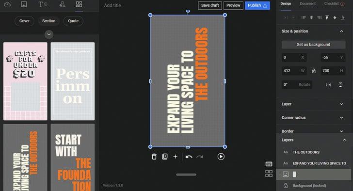 Google Web Stories: Page Layouts zijn kant-en-klare, aanpasbare designs voor afzonderlijke pagina's