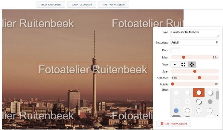 Watermerk voor je foto's of andere kunstobjecten als bescherming tegen illegale downloads