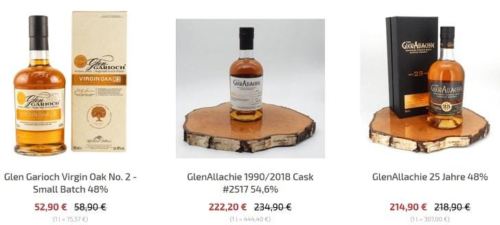 Whisky aanbiedingen uit de webshop
