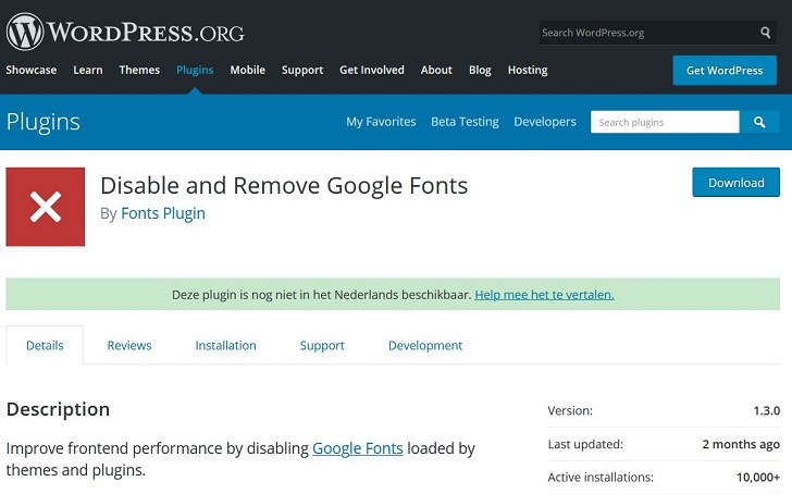 Disable and Remove Google Fonts