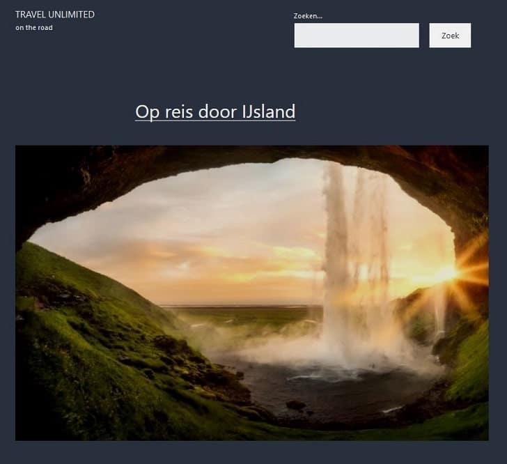 """WordPress: de zoekfunctie als """"aangepaste link"""" in het hoofdmenu"""