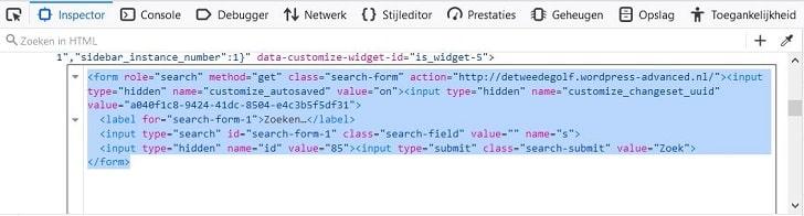 Tools voor webontwikkelaars: de broncode voor het zoekveld kopiëren
