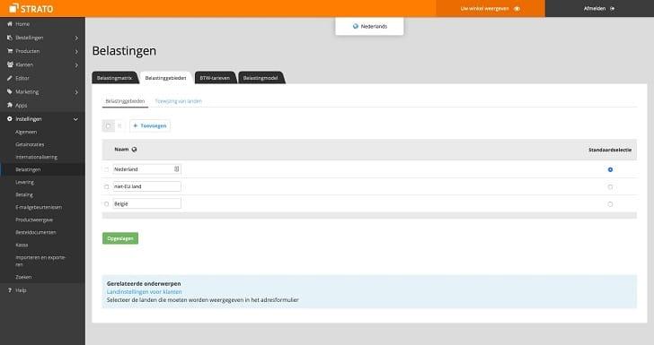 STRATO webshop: belastingtarieven handmatig aanpassen (1)