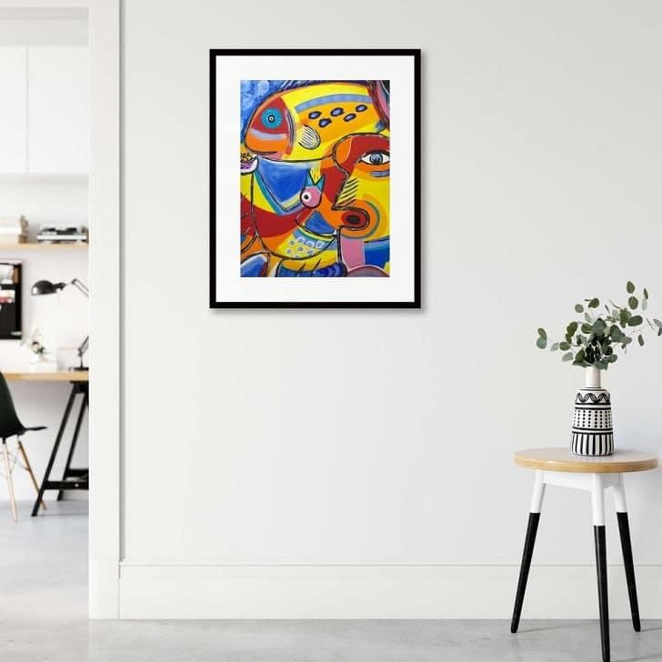 Webshop Modern Dutch Art: foto simulatie