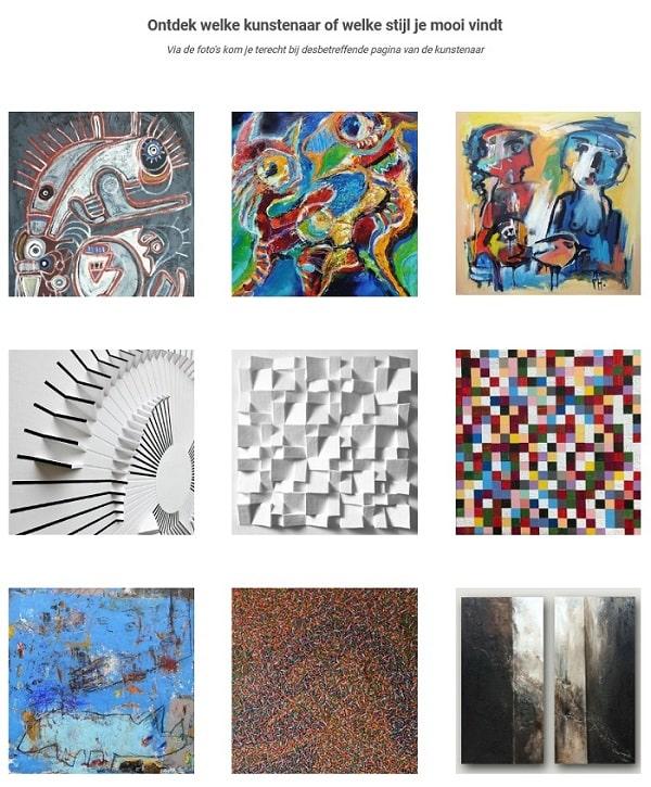 Webshop Modern Dutch Art: moodboard