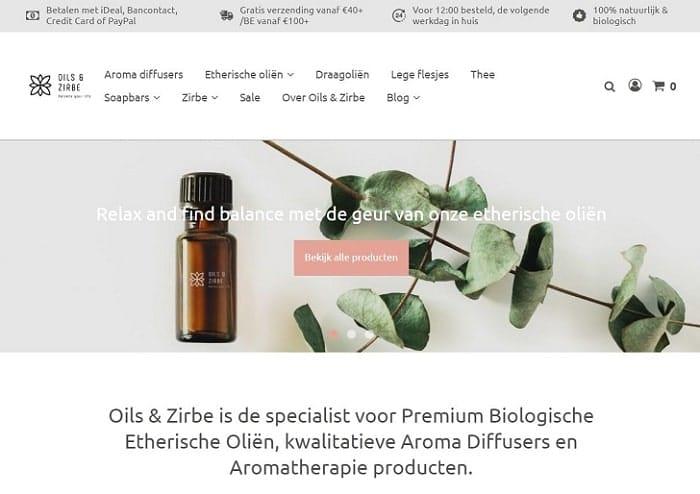 Webshop Oils & Zirbe