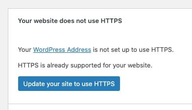 WordPress auf SSL umstellen - naar HTTPS overschakelen